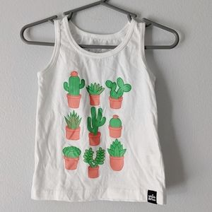 Whistle & Flute plant friends white tank top